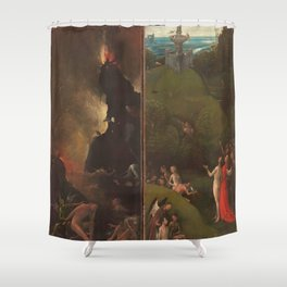 Visions of the Hereafter, Hieronymus Bosch Shower Curtain