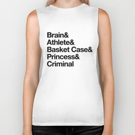 """Breakfast Club Ampersand """"They see us as they want to see us"""" Biker Tank"""