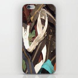 zipper en serpent iPhone Skin