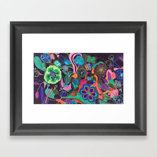 flower forest  Framed Art Print
