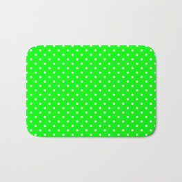 Dots (White/Green) Bath Mat
