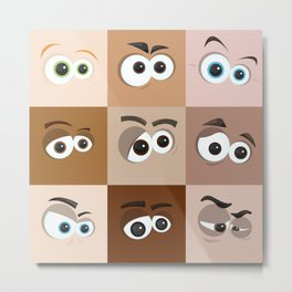Cartoon Eyes Metal Print