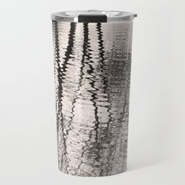 Mirroring. Lake reflections of trees. Travel Mug