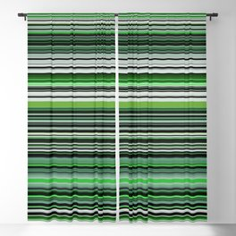 Emerald & Forest Stripes Blackout Curtain