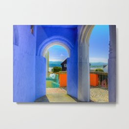 Continental Blue Archway Metal Print