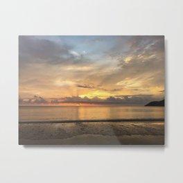 Daintree rainforest Oceanside sunrise Metal Print