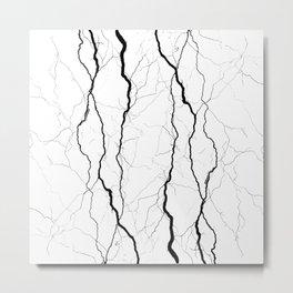 Thunder Type Pattern Metal Print