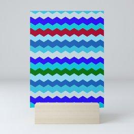 Beach Glass Chevron Pattern Mini Art Print