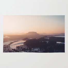 Sunrise in Saxon Switzerland Rug