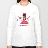 minaj Long Sleeve T-shirts featuring Jynxi Minaj  by The Art of Leena Cruz :)
