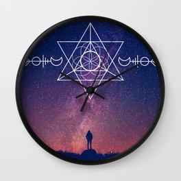Across the Universe | Sacred Geometry Space | Mandala Space Wall Clock