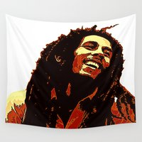 reggae Wall Tapestries featuring the god of reggae by  Agostino Lo Coco