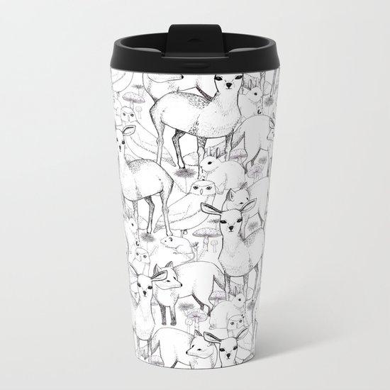 Woodland Metal Travel Mug