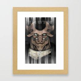 scary creature Framed Art Print