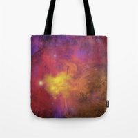 plain Tote Bags featuring Nebula (plain) by Scarlet