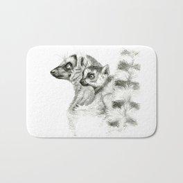 Maki catta and cub Bath Mat