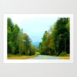 The Mountain Curves Art Print