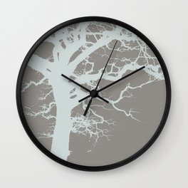 Icy Winter Tree Wall Clock