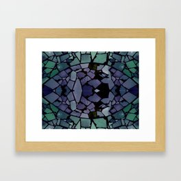 Mosaic - Peacock Framed Art Print