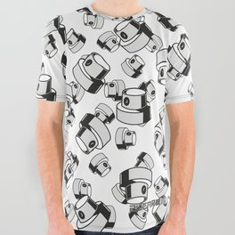 fat caps flow style All Over Graphic Tee