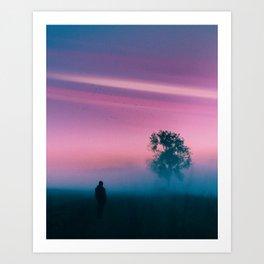 Misty Self Portrait Art Print