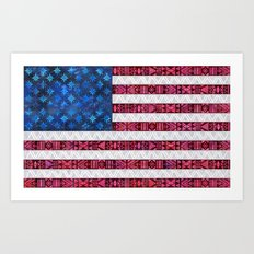 Tribal America - Flag Art Print