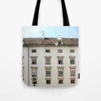 vienna Tote Bags featuring Vienna  by Blake Hemm