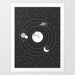 The Space Cat Art Print