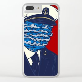 Captain of the Salty Waves Clear iPhone Case