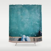 vans Shower Curtains featuring Feeling Beachy by Thoughtless Ideas