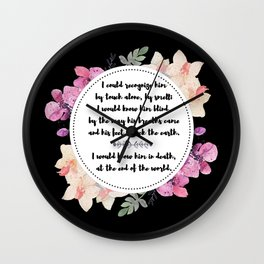 The Song of Achilles Wall Clock
