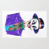 joker Area & Throw Rugs featuring JOKER by ReadThisVA