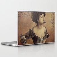 postcard Laptop & iPad Skins featuring ''Postcard'' by Nina Petrova