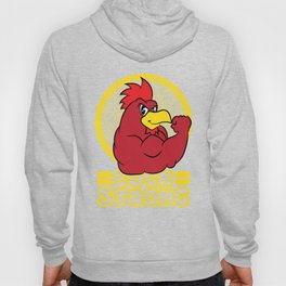 """Funny and hilarious """"Cock Strong"""" tee design. Makes a naughty gift to your friends and family too!  Hoody"""