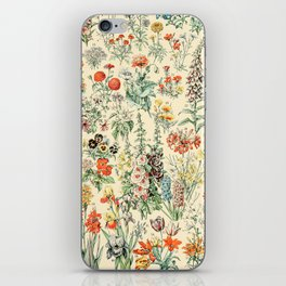Wildflower Diagram // Fleurs II by Adolphe Millot 19th Century Science Textbook Artwork iPhone Skin
