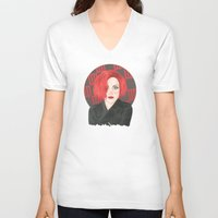 hayley williams V-neck T-shirts featuring HW #14/2 by attkcherry