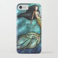 mandie manzano iPhone & iPod Cases featuring The Mermaid by Mandie Manzano