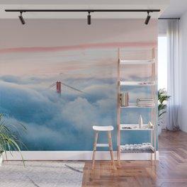 Golden Gate Bridge Above the Clouds Wall Mural