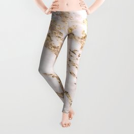 Golden smudge - blush marble Leggings