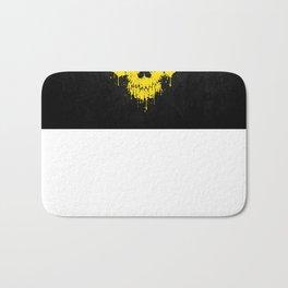 Flag of Ukraine on a Chaotic Splatter Skull Bath Mat