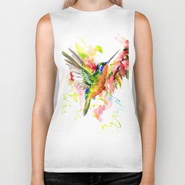 Tropical Hummingbird Biker Tank