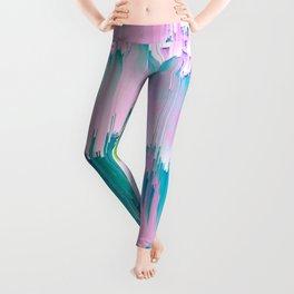 No Rain, No Flowers - tulip Glitch #homedecor #buyart Leggings