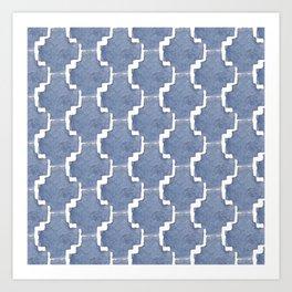 Chambray Pattern Art Print