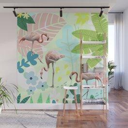 Flamingo jungle Wall Mural