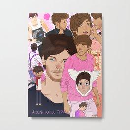 Louis Collage Metal Print