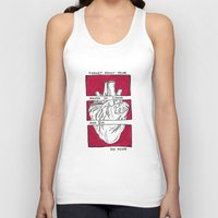 house of cards Tank Tops featuring House of Cards in Red  by Art by Alexandra