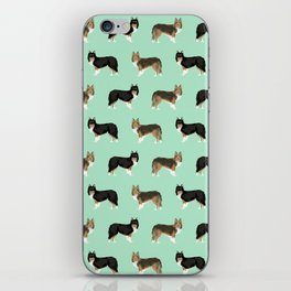 Shetland Sheep Dog pattern custom dog gifts for unique dog breed pet friendly dogs iPhone Skin