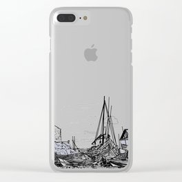 boats on the sea . artwork Clear iPhone Case