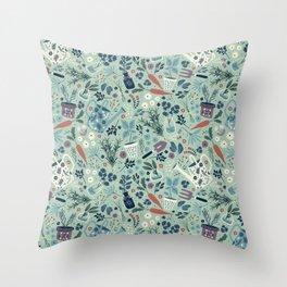 Herb Garden Throw Pillow