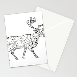 Caribou Side Nodes Black and White Stationery Cards